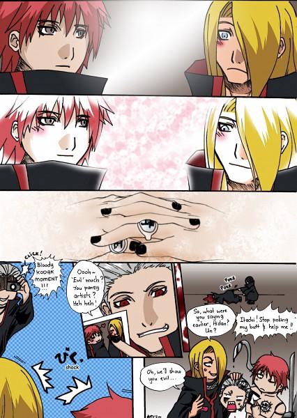 Tags: Anime, NARUTO, Hidan, Sasori, Deidara, Uchiha Itachi, Head, SasoDei, Akatsuki (NARUTO)