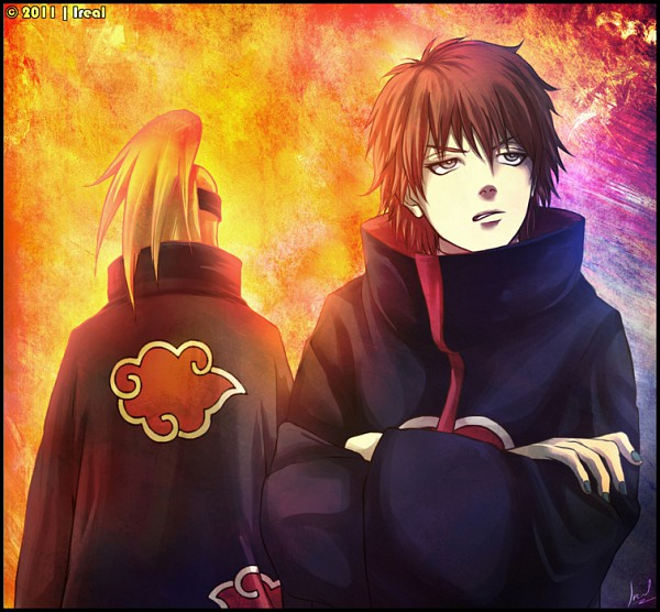 Tags: Anime, Ireal70, NARUTO, Sasori, Deidara, Pixiv, Fanart, Akatsuki (NARUTO)