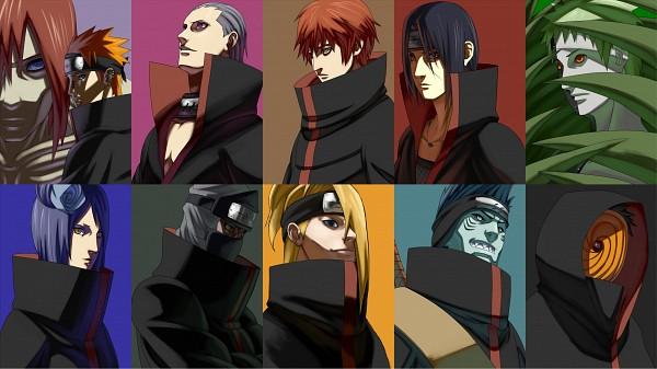 Tags: Anime, koujikoujikouji, NARUTO, Uchiha Itachi, Nagato (NARUTO), Deidara, Hoshigaki Kisame, Tobi, Zetsu, Hidan, Kakuzu, Konan, Gedou (Pein)