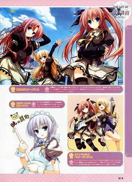 Tags: Anime, Tomose Shunsaku, Dengeki Moeoh 2009-04, Akatsuki no Goei, Nikaidoh Reika, Tsuki (Akatsuki no Goei), Kurayashiki Tae, Nikaidoh Aya, Scan, Guard Of Daybreak