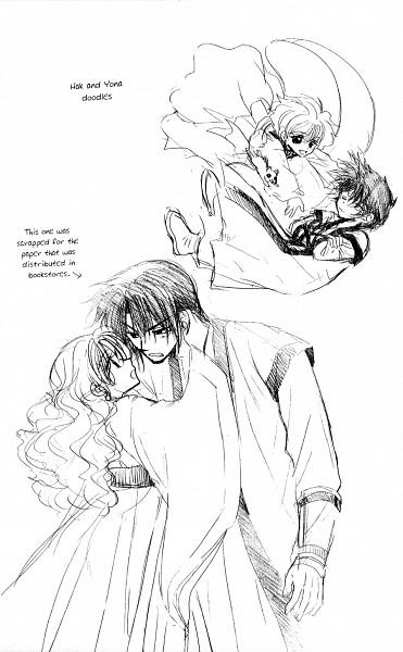 Tags: Anime, Kusanagi Mizuho, Akatsuki no Yona, Ao (Akatsuki no Yona), Yona (Akatsuki no Yona), Son Hak, Official Art, Manga Page, Scan, Yona Of The Dawn