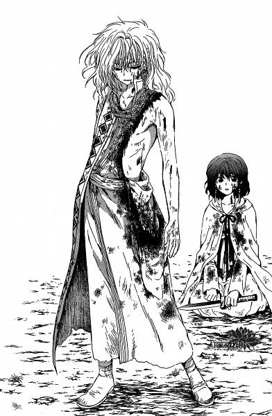 Tags: Anime, Kusanagi Mizuho, Akatsuki no Yona, Zeno (Akatsuki no Yona), Yona (Akatsuki no Yona), Official Art, Scan, Mobile Wallpaper, Yona Of The Dawn