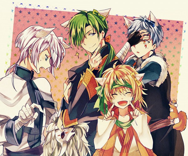 Tags: Anime, Noritamako, Akatsuki no Yona, Ki-Ja (Akatsuki no Yona), Ao (Akatsuki no Yona), Shin-Ah (Akatsuki no Yona), Jae-Ha (Akatsuki no Yona), Zeno (Akatsuki no Yona), Squirrel, Fanart, Fanart From Pixiv, Pixiv, Yona Of The Dawn