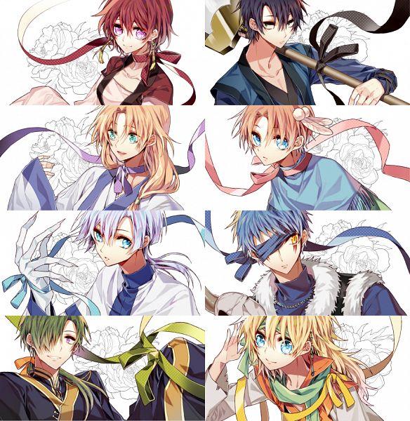Tags: Anime, NINE (Sapphire), Akatsuki no Yona, Zeno (Akatsuki no Yona), Yoon (Akatsuki no Yona), Son Hak, Ki-Ja (Akatsuki no Yona), Shin-Ah (Akatsuki no Yona), Soo-won (Akatsuki no Yona), Jae-Ha (Akatsuki no Yona), Yona (Akatsuki no Yona), PNG Conversion, Yona Of The Dawn