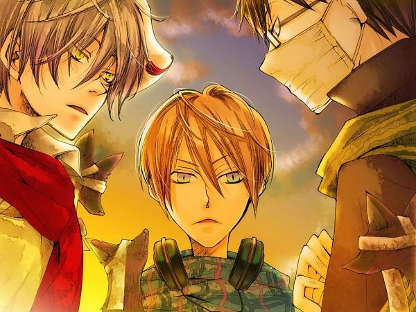 Tags: Anime, Akaya Akashiya Ayakashino, Tougo Tsubaki, Akiyoshi (Akaya Akashiya Ayakashino), Kurogitsune (Fox), Yue (Akaya Akashiya Ayakashino), CG Art