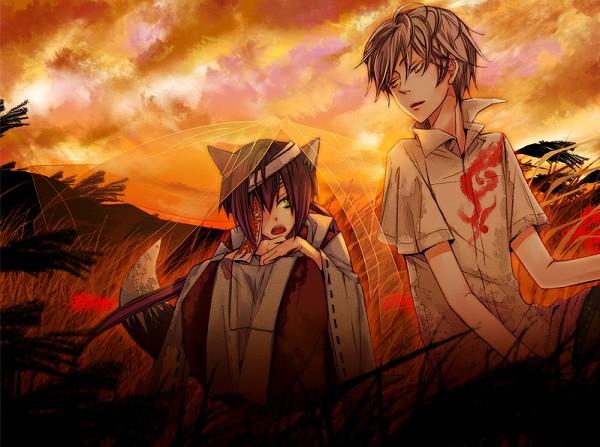 Tags: Anime, Akaya Akashiya Ayakashino, Kurogitsune, Yue (Akaya Akashiya Ayakashino), CG Art