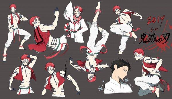 Tags: Anime, Pixiv Id 5559230, Kimetsu no Yaiba, Akaza (Kimetsu no Yaiba), Character Sheet
