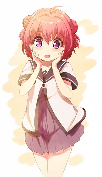 Tags: Anime, Pixiv Id 76552, Yuru Yuri, Akaza Akari, PNG Conversion, Mobile Wallpaper