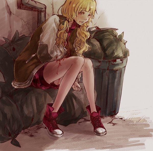 Tags: Anime, Astatine, SINoALICE, Akazukin (SINoALICE), Converse, Trash, Pixiv, Fanart, Fanart From Pixiv