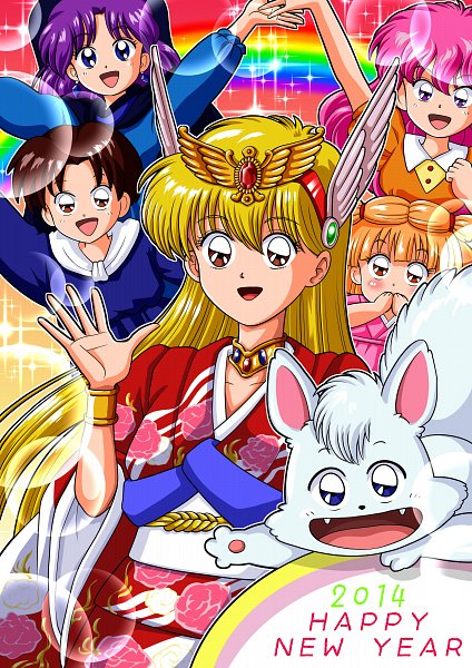 Tags: Anime, Pixiv Id 4682741, Akazukin Chacha, Riiya, Marin (Akazukin Chacha), Shiine, Yakko, Orin (Akazukin Chacha), Chacha (Akazukin Chacha), Happy 2014, Pixiv, Fanart, Fanart From Pixiv