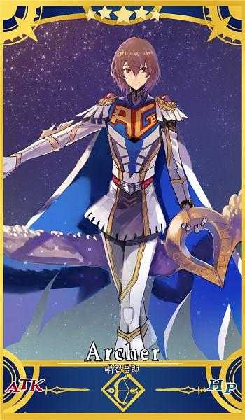 Tags: Anime, Cezaria, Shin Megami Tensei: PERSONA 5, Akechi Goro, Fate/Grand Order (Parody), Fanart From Pixiv, Pixiv, Fanart