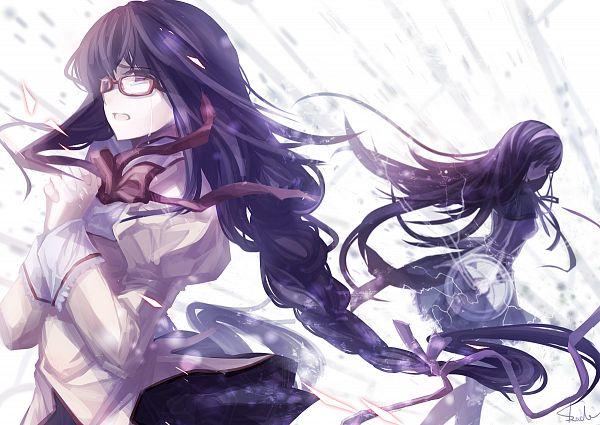 Tags: Anime, Skade, Mahou Shoujo Madoka☆Magica, Akemi Homura, Fanart From Pixiv, Fanart, Revision, Pixiv