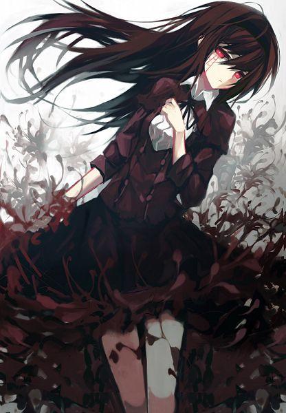 Tags: Anime, Sea (Lordofk), Mahou Shoujo Madoka☆Magica, Akemi Homura, Mobile Wallpaper, Pixiv, Fanart From Pixiv, Fanart