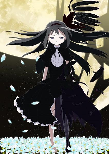 Tags: Anime, Pixiv Id 2178752, Mahou Shoujo Madoka☆Magica, Akuma Homura, Homulilly, Akemi Homura, Mobile Wallpaper