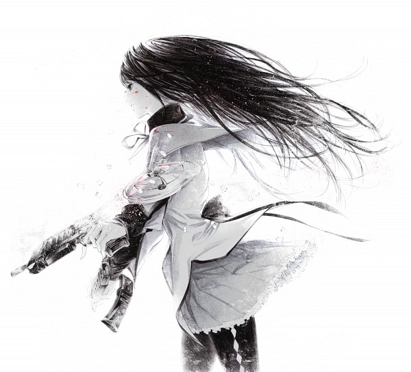 Tags: Anime, Sawasawa, Mahou Shoujo Madoka☆Magica, Akemi Homura, Fanart From Pixiv, Pixiv, PNG Conversion, Fanart