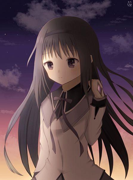 Tags: Anime, Pixiv Id 37565349, Mahou Shoujo Madoka☆Magica, Magia Record: Mahou Shoujo Madoka☆Magica Gaiden, Akemi Homura, Pixiv, Revision, Fanart, Fanart From Pixiv