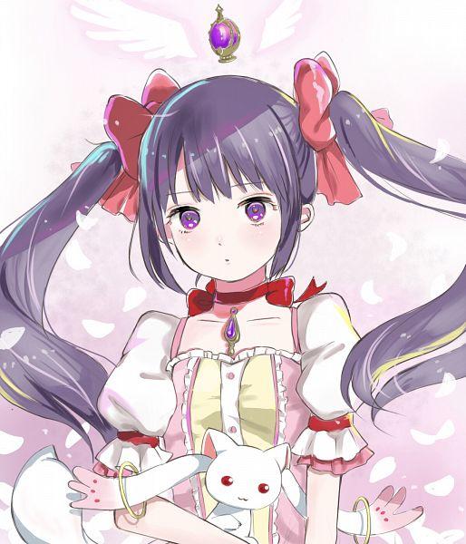 Tags: Anime, Pixiv Id 63265501, Mahou Shoujo Madoka☆Magica, Akemi Homura, Kyubee, Kaname Madoka (Cosplay), Fanart From Pixiv, Pixiv, Fanart