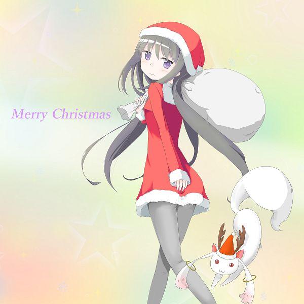 Tags: Anime, Pixiv Id 9105659, Mahou Shoujo Madoka☆Magica, Kyubee, Akemi Homura, Sack