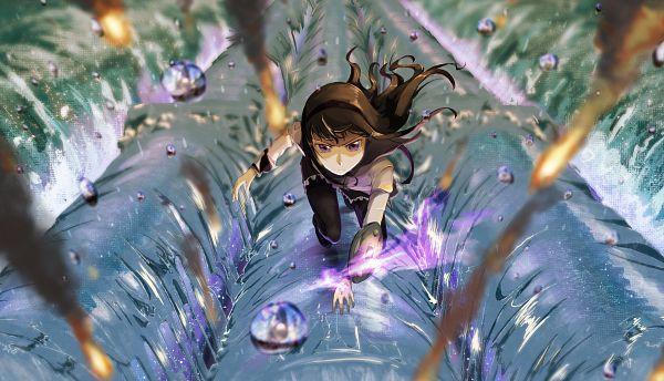 Tags: Anime, Pixiv Id 61722131, Mahou Shoujo Madoka☆Magica, Akemi Homura, Pixiv, Fanart, Fanart From Pixiv
