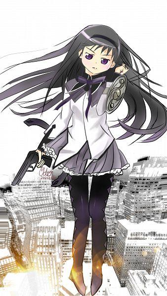 Tags: Anime, Pixiv Id 23647572, Mahou Shoujo Madoka☆Magica, Akemi Homura, 2021, Pixiv, Fanart, Fanart From Pixiv