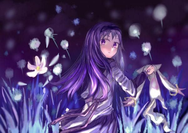 Tags: Anime, jingjishishiyuanyijin, Mahou Shoujo Madoka☆Magica, Akemi Homura, Kyubee, Dandelion, Catching, Lofter