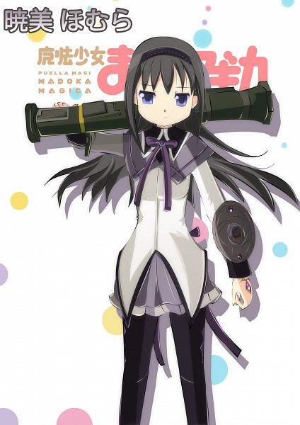 Tags: Anime, Pixiv Id 4677362, Mahou Shoujo Madoka☆Magica, Akemi Homura, Rocket Launcher, Fanart, Pixiv, Fanart From Pixiv