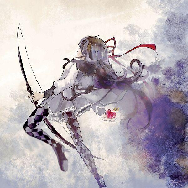 Tags: Anime, Pixiv Id 35655233, Mahou Shoujo Madoka☆Magica, Akemi Homura, Pixiv, Fanart, Fanart From Pixiv
