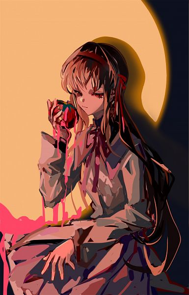 Tags: Anime, Pixiv Id 1651907, Mahou Shoujo Madoka☆Magica, Akemi Homura, Pixiv, Fanart, Fanart From Pixiv