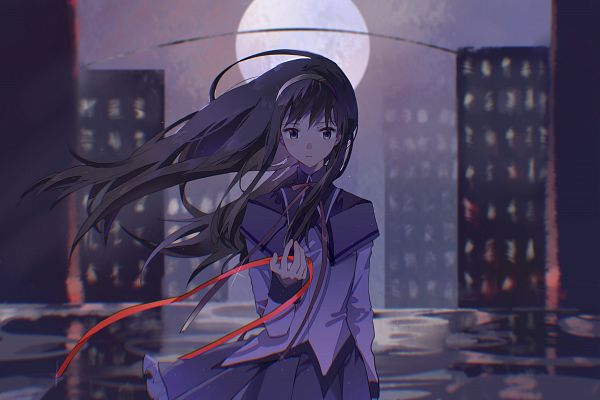 Tags: Anime, Pixiv Id 18435972, Mahou Shoujo Madoka☆Magica, Akemi Homura, Pixiv, Fanart, Fanart From Pixiv