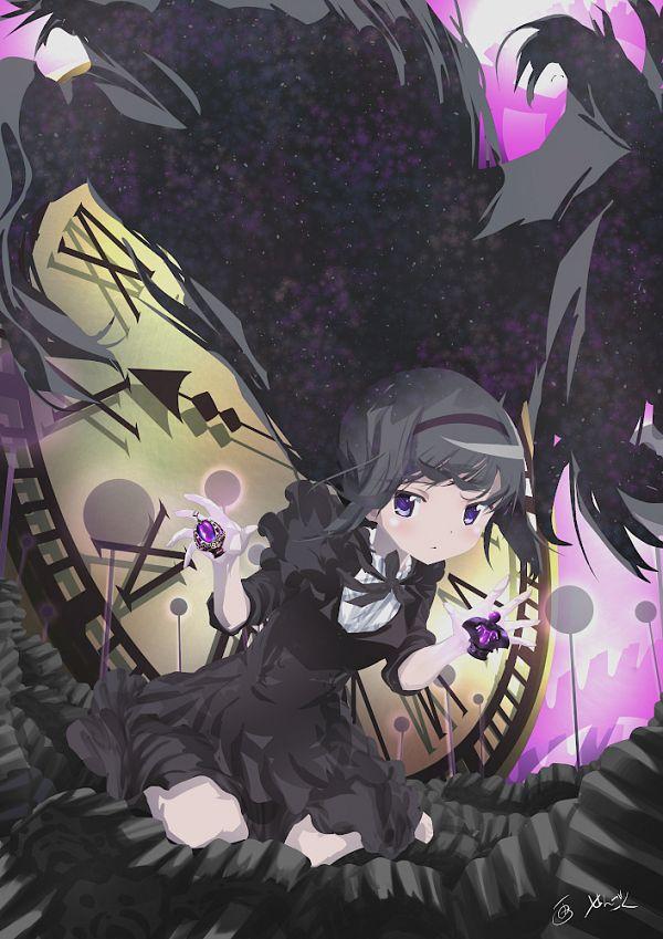 Tags: Anime, Pixiv Id 6645452, Mahou Shoujo Madoka☆Magica, Akemi Homura, Pixiv, Fanart, Fanart From Pixiv