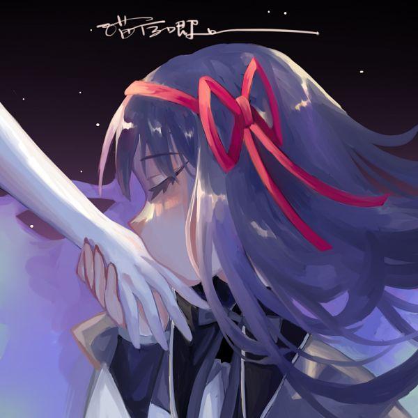 Tags: Anime, Pixiv Id 28389593, Mahou Shoujo Madoka☆Magica, Akemi Homura, Pixiv, Fanart, Fanart From Pixiv