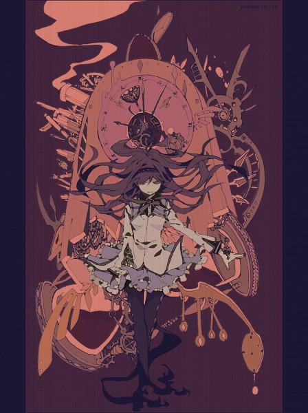 Tags: Anime, Josco, Mahou Shoujo Madoka☆Magica, Akemi Homura, Pixiv, Fanart