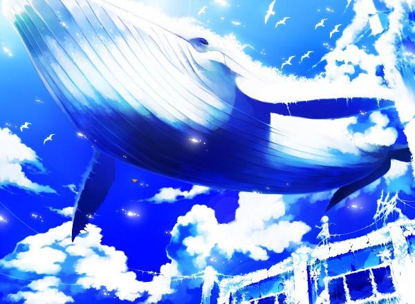 Tags: Anime, Akezu, Aquatic Animal in the Sky, Whale, Original