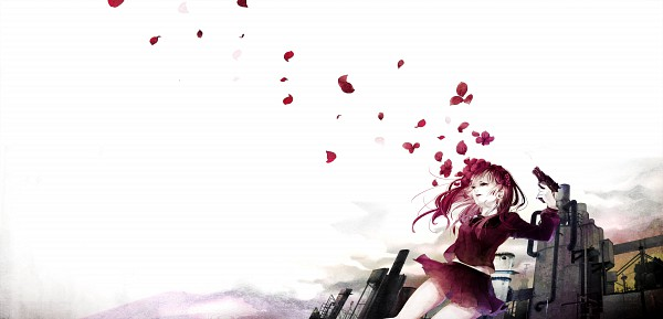 Tags: Anime, Akiakane, Industrial, Original, Facebook Cover, Pixiv