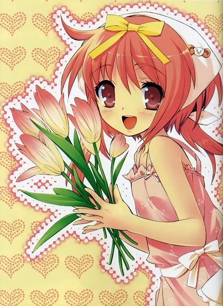 Tags: Anime, Ito Noizi, Nanatsuiro Drops, Akihime Sumomo, Tulip, Mobile Wallpaper, Scan