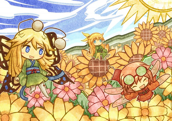 Tags: Anime, Akihiyo, Flower (Personification), Flower Field, Pixiv