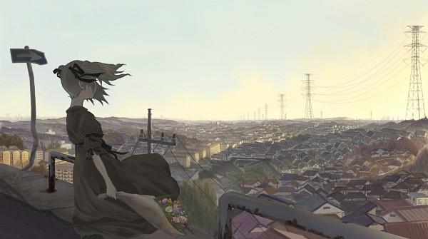Tags: Anime, Akio-baka, Power Lines, Pixiv, Original, Facebook Cover