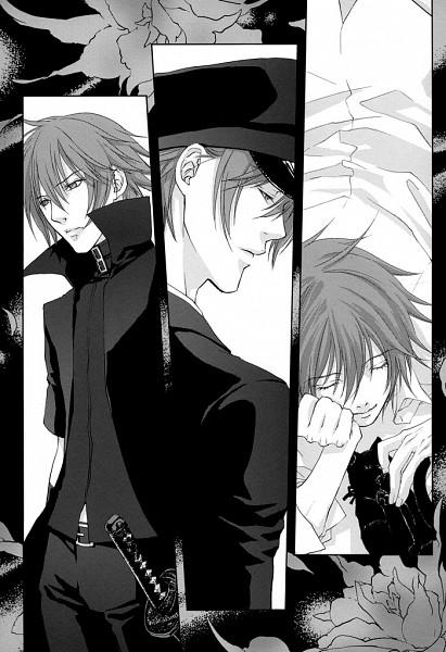 Tags: Anime, Nitro+CHiRAL, Togainu no Chi, Akira (TNC), Shiki (TNC) (Cosplay), Mobile Wallpaper, Fanart, Doujinshi Page