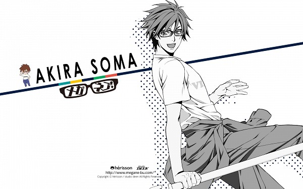 Tags: Anime, Nakajima Atsuko, Meganebu!, Akira Souma, Wallpaper