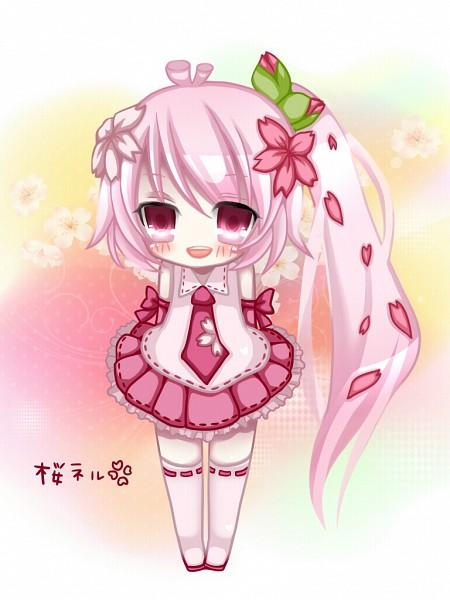Tags: Anime, Pixiv Id 760898, VOCALOID, Akita Neru, Sakura Design, Pixiv, Official Derivatives