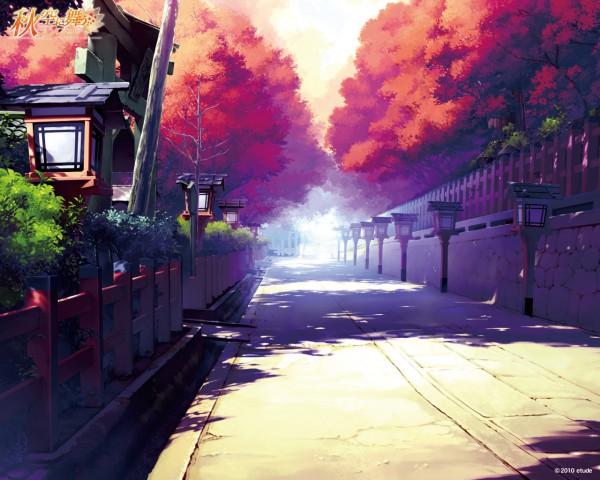Tags: Anime, Ueda Ryou, Etude, Akizora ni Mau Confetti, Light Pole, Wallpaper
