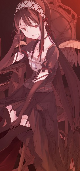 Tags: Anime, Pixiv Id 4758853, Mahou Shoujo Madoka☆Magica, Akuma Homura, Pixiv, Fanart, Fanart From Pixiv, Mobile Wallpaper
