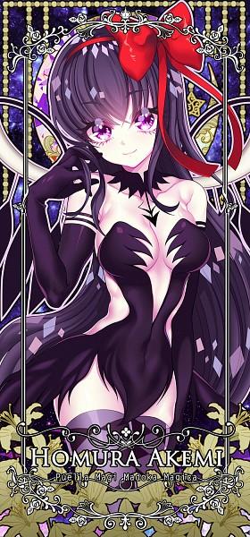 Tags: Anime, NAO (Pixiv2768457), Mahou Shoujo Madoka☆Magica, Akemi Homura, Akuma Homura, PNG Conversion, Fanart, Twitter