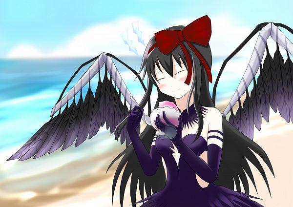 Tags: Anime, Pixiv Id 8307752, Mahou Shoujo Madoka☆Magica, Akuma Homura, Akemi Homura, Holding Spoon, Fanart, Fanart From Pixiv, Pixiv