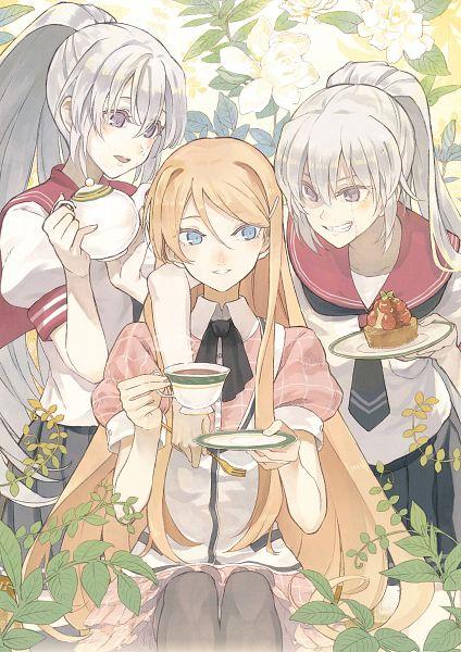 Tags: Anime, Minakata Sunao, Akuma no Riddle, Akuma no Riddle Clear File, Hanabusa Sumireko, Banba Mahiru, Mobile Wallpaper, Comic Market, Comic Market 87, Scan