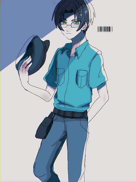 Tags: Anime, Pixiv Id 10456468, Sarazanmai, Akutsu Mabu, Police Hat