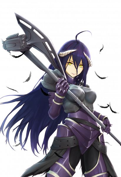 Tags: Anime, notasuspiciousguy, Overlord, Albedo (Overlord), Purple Armwear, deviantART, Fanart, Fanart From DeviantART