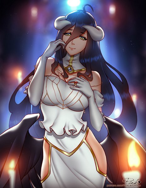 Tags: Anime, Pixiv Id 19361195, Overlord, Albedo (Overlord), deviantART