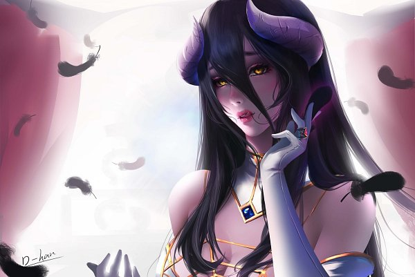 Tags: Anime, Pixiv Id 26255777, Overlord, Albedo (Overlord), Pixiv, Fanart, Fanart From Pixiv