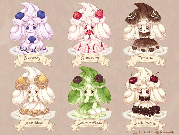Tags: Anime, Pixiv Id 32147265, Pokémon Sword & Shield, Pokémon, Alcremie, Berry, Mont Blanc, Blueberry